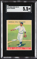 "Baseball Cards:Singles (1930-1939), 1933 World Wide Gum Harold ""Pie"" Traynor #22 SGC EX+ 5.5...."