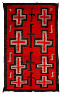 American Indian Art:Weavings, A Navajo Regional Rug. c. 1910...