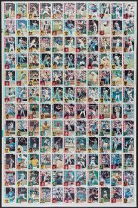 "1984 Topps ""Nestle"" Baseball Uncut Sheet With Mattingly & Strawberry"