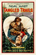 "Movie Posters:Western, Tangled Trails (William Steiner, 1921). Fine/Very Fine on Linen. One Sheet (26.75"" X 40.75"").. ..."