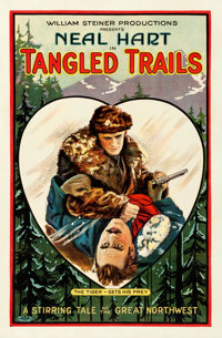 "Tangled Trails (William Steiner, 1921). Fine/Very Fine on Linen. One Sheet (26.75"" X 40.75"")"