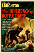 """Movie Posters:Horror, The Hunchback of Notre Dame (RKO, 1939). Folded, Very Fine-. OneSheet (27"""" X 41"""").. ..."""