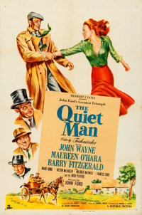 "The Quiet Man (Republic, 1952). Folded, Very Fine-. One Sheet (27"" X 41"")"