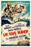 Movie Posters:Comedy, In the Navy (Universal, 1941). Folded, Fine/Very Fine....
