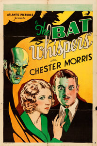 "The Bat Whispers (Atlantic, R-1930). Folded, Fine+. One Sheet (27"" X 41"")"