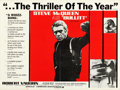 "Movie Posters:Crime, Bullitt (Warner Brothers, 1968). Folded, Fine/Very Fine. BritishQuad (30"" X 40"") Review Style.. ..."