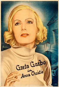 "Anna Christie (MGM, 1930). Folded, Fine+. Partial German Three Sheet (37.5"" X 54.25"")"