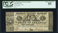 Obsoletes By State:Arkansas, (Little Rock), AR - Arkansas Treasury Warrant $10 Apr. 4, 1862 Cr. 58 PCGS Choice About New 55.. ...