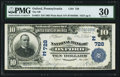 National Bank Notes:Pennsylvania, Oxford, PA - $10 1902 Plain Back Fr. 624 The NB of Oxford Ch. # (E)728 PMG Very Fine 30. . ...