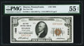 National Bank Notes:Pennsylvania, Sharon, PA - $10 1929 Ty. 1 The First NB Ch. # 1685 PMG About Uncirculated 55 EPQ.. ...