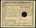 Colonial Notes:Massachusetts, Signed by Loammi Baldwin Massachusetts May 5, 1780 $1 About New,Hole Punch Cancel.. ...