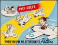 """Movie Posters:War, World War II Propaganda (Directorate of Air Traffic and Safety, 1942). Folded, Very Fine+. Poster (17"""" X 22"""") """"They Cheer......"""