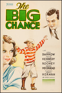 "The Big Chance (Eagle American, 1933). Fine+ on Linen. One Sheet (27.5"" X 41"") Hap Hadley Artwork. Drama"