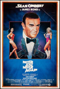 """Movie Posters:James Bond, Never Say Never Again (Warner Brothers, 1983). Rolled, Fine/Very Fine. Poster (40"""" X 60""""). Rudy Obrero Artwork. James Bond...."""
