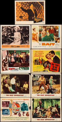 """The Beat Generation & Other Lot (MGM, 1959). Fine/Very Fine. Title Lobby Cards (2) & Lobby Cards (7) (11"""" X..."""