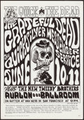 """Movie Posters:Rock and Roll, The Grateful Dead at The Avalon Ballroom (Family Dog, 1966). Very Fine. Concert Poster No. 12-2 (14.25"""" X 20.5"""") 2nd Printin..."""