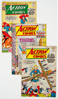 Action Comics Group of 10 (DC, 1959-62) Condition: Average VG+.... (Total: 10 Comic Books)