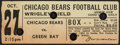 Football Collectibles:Tickets, 1935 Bears vs. Packers Ticket Stub. ...
