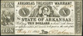 Obsoletes By State:Arkansas, (Little Rock), AR - Arkansas Treasury Warrant $10 July 18, 1862 Choice About Uncirculated.. ...