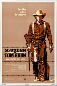 "Tom Horn (Warner Brothers, 1980). Folded, Very Fine+. One Sheet (27"" X 41"") & Mini Lobby Card Set of 8..."