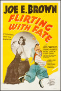 """Movie Posters:Comedy, Flirting with Fate (MGM, 1938). Fine on Linen. One Sheet (27"""" X41""""). Al Hirschfeld Artwork. Comedy.. ..."""