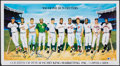 Autographs:Photos, 1988 500 Home Run Hitters Multi-Signed Lithograph (11 Signatures)....