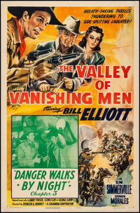"The Valley of Vanishing Men (Columbia, 1942). Fine/Very Fine on Linen. One Sheet (27"" X 41"") Chapter 3 -- &quo..."