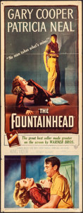 "Movie Posters:Drama, The Fountainhead (Warner Brothers, 1949). Folded, Fine/Very Fine. Insert (14"" X 36""). Drama.. ..."