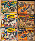 Movie Posters:Action, Superman and the Jungle Devil & Other Lot (20th Century Fox, 1954). Fine/Very Fine. Autographed Mexican Lobby Card & Mexican... (Total: 9 Items)