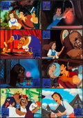 """Movie Posters:Animation, Beauty and the Beast & Other Lot (Warner Brothers, 1992). VeryFine/Near Mint. German Lobby Card Set of 12 (11.75"""" X 8.25"""") ...(Total: 20 Items)"""