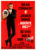 "Movie Posters:James Bond, You Only Live Twice (United Artists, 1967). Folded, Fine/Very Fine. Italian 4 - Fogli (55.25"" X 78""). Style A, Robert McGinn..."