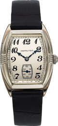 Timepieces:Wristwatch, Hamilton, Perry, 14K White Gold Filled, Manual Wind, Rare ...