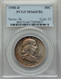 1958-D 50C MS66 Full Bell Lines PCGS. PCGS Population: (897/85). NGC Census: (326/25). MS66....(PCGS# 86675)