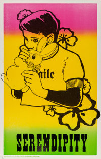 FAILE (20th Century) Serendipity, 2001 Letterpress in colors on card 22 x 14 inches (55.9 x 35.6