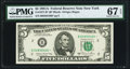 Fr. 1977-B* $5 1981A Federal Reserve Star Note. PMG Superb Gem Unc 67 EPQ