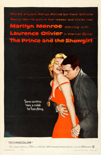 "The Prince and the Showgirl (Warner Brothers, 1957). Folded, Very Fine-. One Sheet (27"" X 41"")"