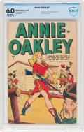 Golden Age (1938-1955):Western, Annie Oakley #1 (Timely, 1948) CBCS FN 6.0 Off-white pages....