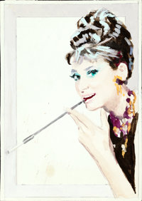 Breakfast at Tiffany's by Enzo Nistri (Paramount, 1961). Very Fine-. Preliminary Mixed Media Concept on Sketch Paper (6...