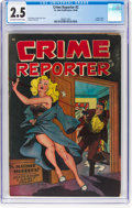 Golden Age (1938-1955):Crime, Crime Reporter #2 (St. John, 1948) CGC GD+ 2.5 Off-white to white pages....