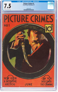 Picture Crimes #1 (David McKay Publications, 1937) CGC VF- 7.5 Cream to off-white pages