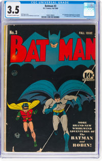 Batman #3 (DC, 1940) CGC VG- 3.5 Off-white to white pages