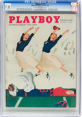 Magazines:Vintage, Playboy V3#10 (HMH Publishing, 1956) CGC FN/VF 7.0 Off-white to white pages....