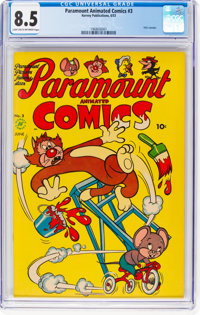 Paramount Animated Comics #3 (Harvey, 1953) CGC VF+ 8.5 Light tan to off-white pages
