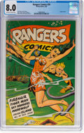 Golden Age (1938-1955):Miscellaneous, Rangers Comics #39 (Fiction House, 1948) CGC VF 8.0 Off-white to white pages....