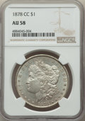1878-CC $1 AU58 NGC. NGC Census: (627/17756). PCGS Population: (516/26546). CDN: $275 Whsle. Bid for problem-free NGC/PC...