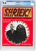 Magazines:Horror, Shriek #2 (Acme, 1965) CGC NM 9.4 Off-white to white pages....