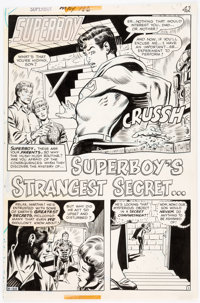 Bob Brown and Murphy Anderson Superboy #186 Story Page 1 Original Art (DC, 1972)
