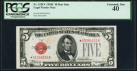 Fr. 1528* $5 1928C Legal Tender Star Note. PCGS Extremely Fine 40