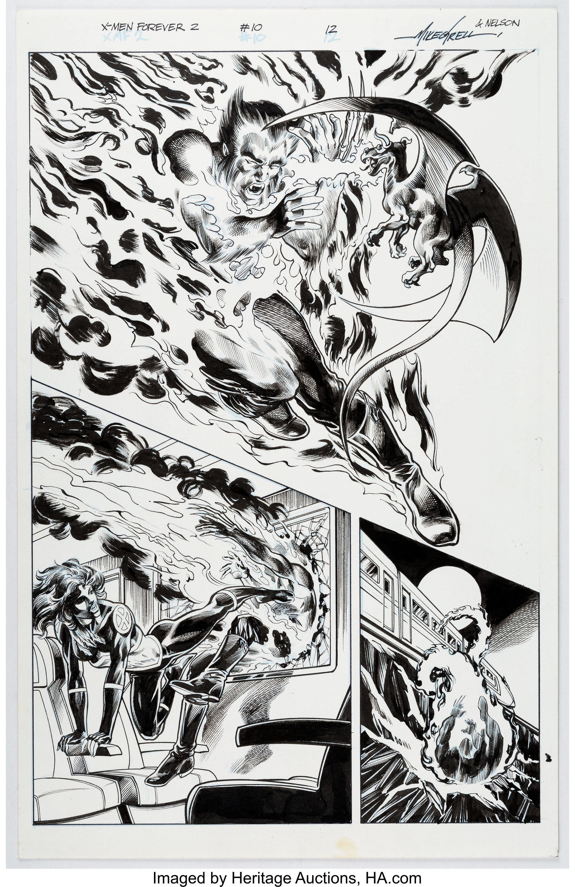 Mike Grell, Nelson, and Andre Hennessy X-Men Forever 2 #10 Story