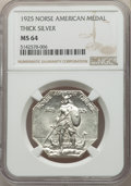 1925 Medal Norse, Thick Planchet, MS64 NGC. Swoger 24Ba-wv3. NGC Census: (371/237). PCGS Population: (501/299). MS64. Mi...